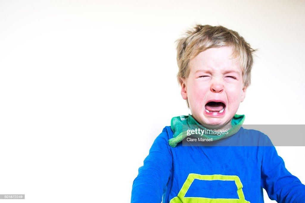 Angry boy : Stock Photo