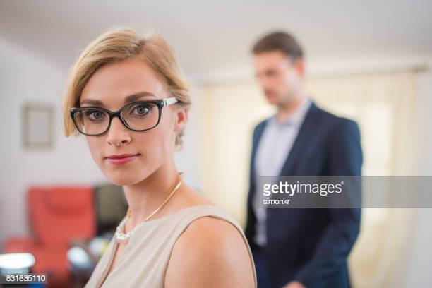 Angry businesswoman
