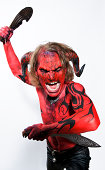 Angry Devil with Knife