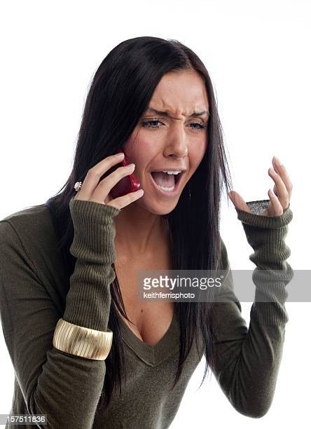 angry girl on phone