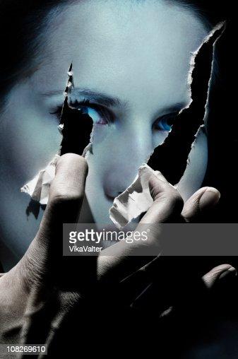 angry hand : Foto de stock