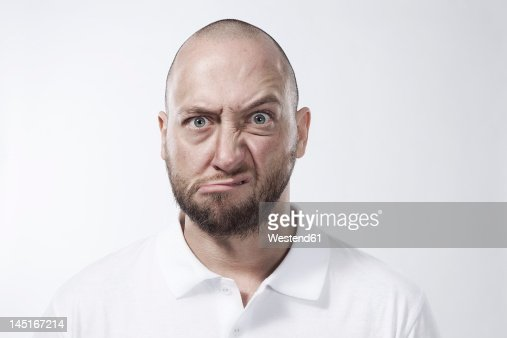 Angry man, portrait