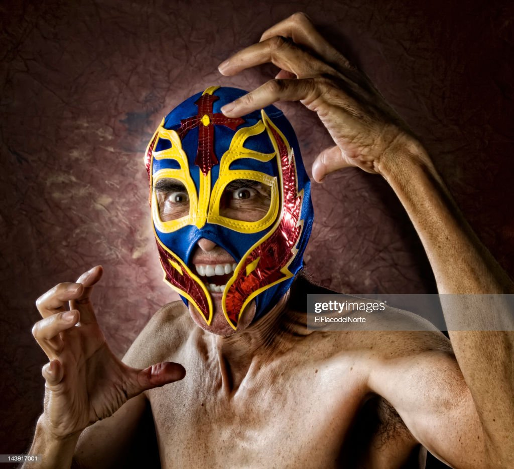 Angry Old Luchador - Wrestler : Stock Photo