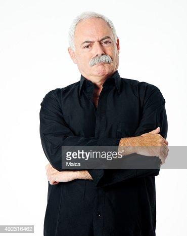 Wütende senior Mann Porträt