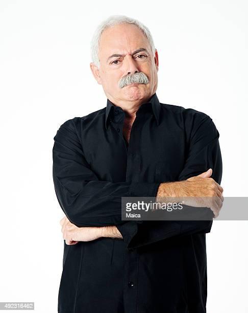 Angry senior man portrait