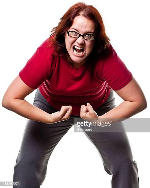 Femme en colère Rugir