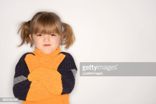 Angry sullen girl : Stock Photo