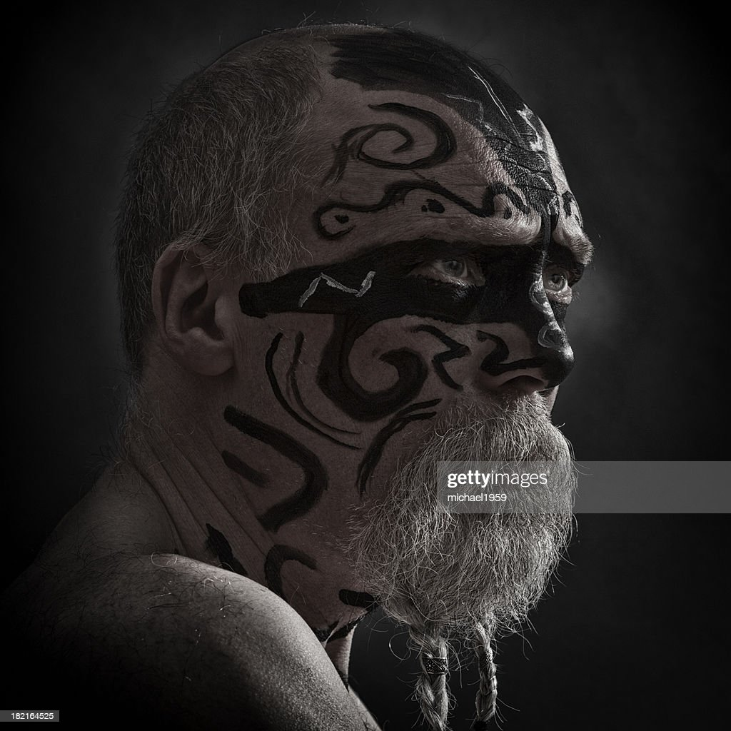 Angry Warrior portrait