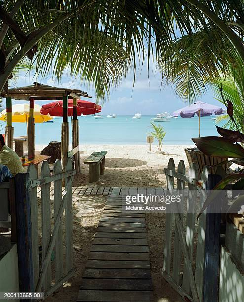 Anguilla, walkway towards beach