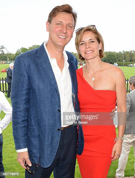 Angus Forbes and Darcey Bussell attend Audi International at Guards Polo Club near Windsor to support England as it faces Argentina for the...