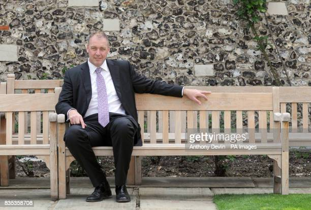 Angus Fraser Managing Director of Cricket poses for a portrait during the Middlesex County Cricket Club preseason photo call at Lord's Cricket Ground...