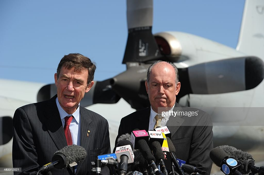 Angus Houston head of the Joint Agency Coordination Centre leading the search for missing Malaysia Airlines flight MH370 and Australian Defence...