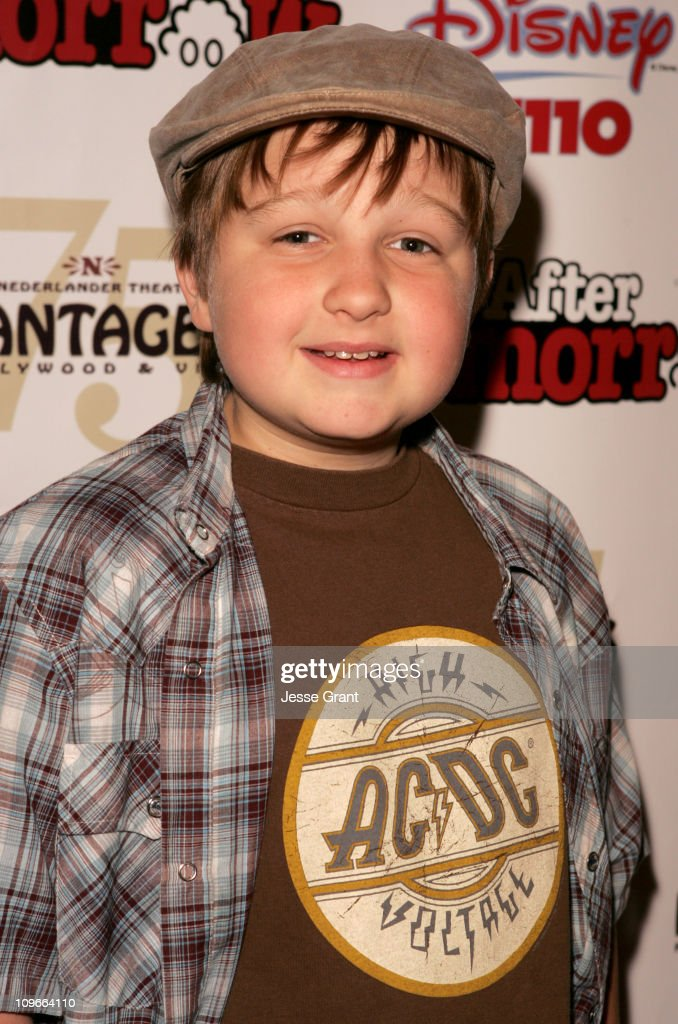 Angus Jones during 'Kids Night' with Cast of 'Annie' Past & Present Help Hurricane Katrina Orphans to Benefit the Dream Center L.A. at The Pantages Theatre in Los Angeles, California, United States.