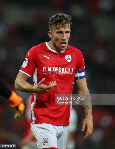 Angus MacDonald of Barnsley during the Carabao Cup Third Round match between Tottenham Hotspur and Barnsley at Wembley Stadium on September 19 2017...