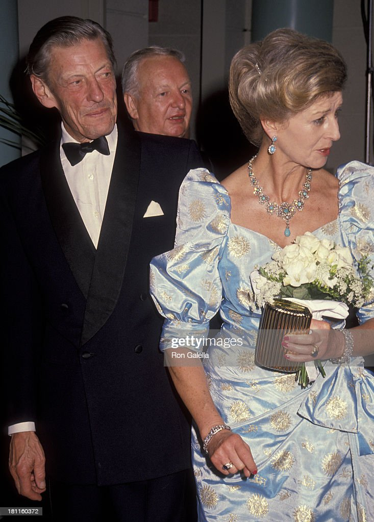 <a gi-track='captionPersonalityLinkClicked' href=/galleries/search?phrase=Angus+Ogilvy&family=editorial&specificpeople=160704 ng-click='$event.stopPropagation()'>Angus Ogilvy</a> and Princess Alexandra, The Honourable Lady Ogilvy attends BAFTA Gala Honoring Michael Caine on October 12, 1990 at the Westin South Coast Hotel in Orange, California.