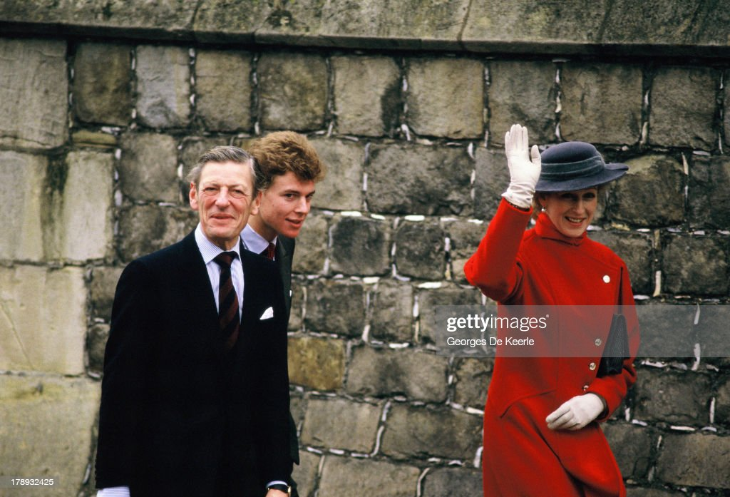 <a gi-track='captionPersonalityLinkClicked' href=/galleries/search?phrase=Angus+Ogilvy&family=editorial&specificpeople=160704 ng-click='$event.stopPropagation()'>Angus Ogilvy</a>, his wife Princess Alexandra and their son <a gi-track='captionPersonalityLinkClicked' href=/galleries/search?phrase=James+Ogilvy&family=editorial&specificpeople=159383 ng-click='$event.stopPropagation()'>James Ogilvy</a> attend the Royal Christmas Service at St George's Chapel on December 25, 1984 in Windsor, England.