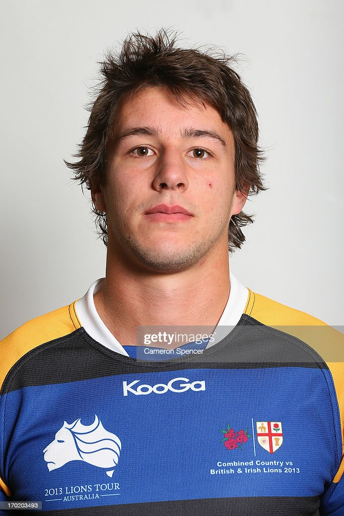 Angus Roberts of the Combined NSW/QLD Country team poses during a headshots session at The Crowne Plaza on June 9, 2013 in Newcastle, Australia.