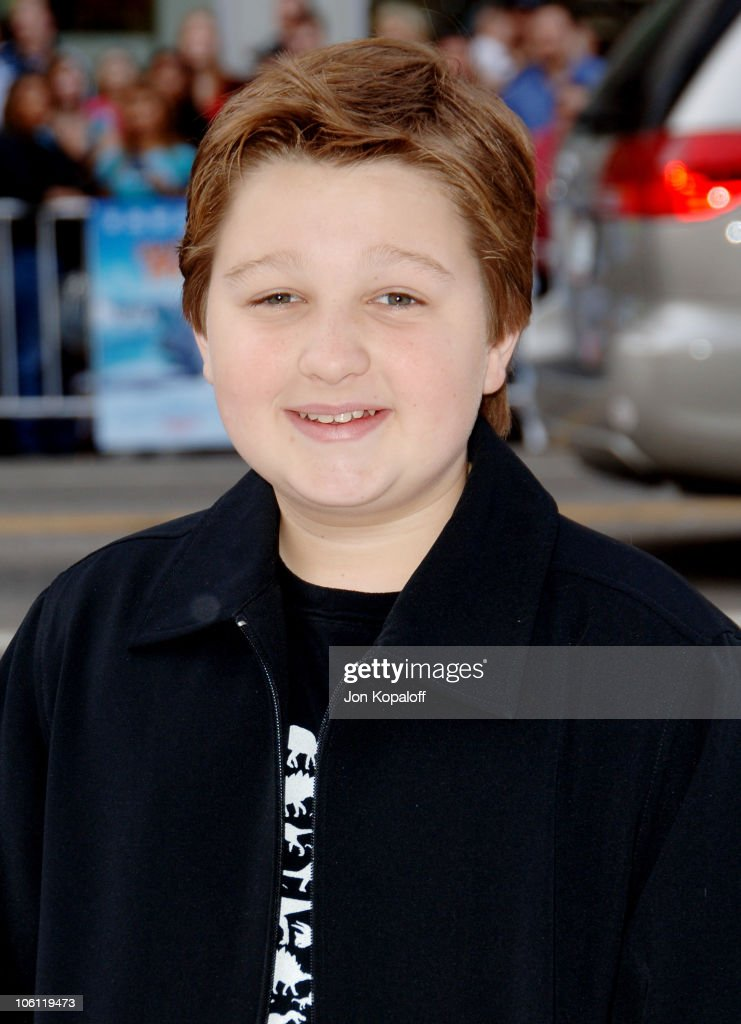 <a gi-track='captionPersonalityLinkClicked' href=/galleries/search?phrase=Angus+T.+Jones&family=editorial&specificpeople=240423 ng-click='$event.stopPropagation()'>Angus T. Jones</a> during 'Happy Feet' World Premiere - Arrivals at Grauman's Chinese Theatre in Hollywood, California, United States.