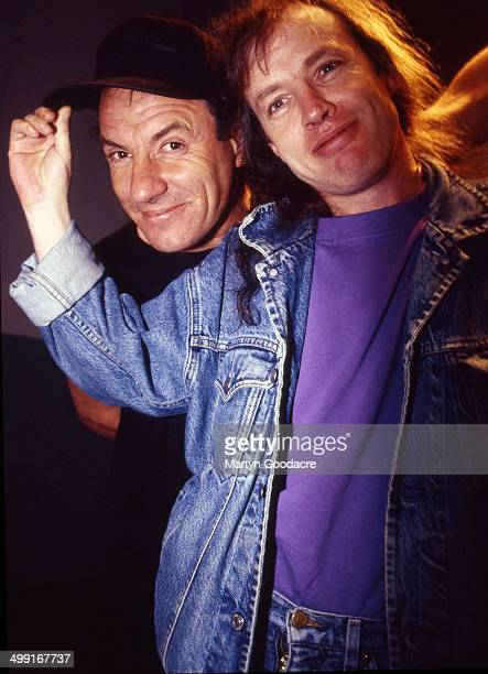 Angus Young and Brian Johnson of AC/DC London United Kingdom 1995