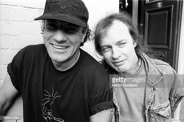 Angus Young and Brian Johnson of AC/DC portrait london United Kingdom 1995