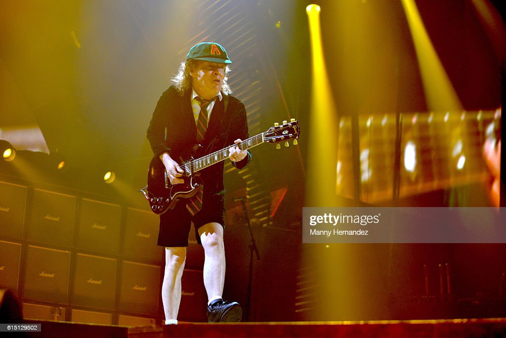 Angus Young at BB&T Center on August 30, 2016 in Sunrise, Florida.