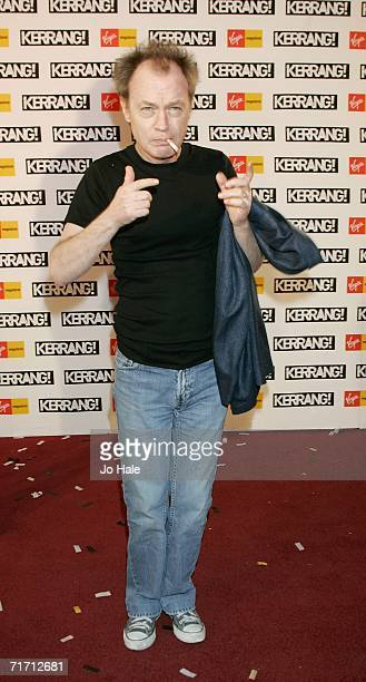 Angus Young of ACDC arrives at the Kerrang Awards 2005 the annual music magazine's prestigious awards at XXXX on August 24 2006 in London England