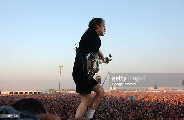 Angus Young of AC/DC during Molson Canadian Rocks for Toronto Show at Downsview Park in Toronto Ontario Canada