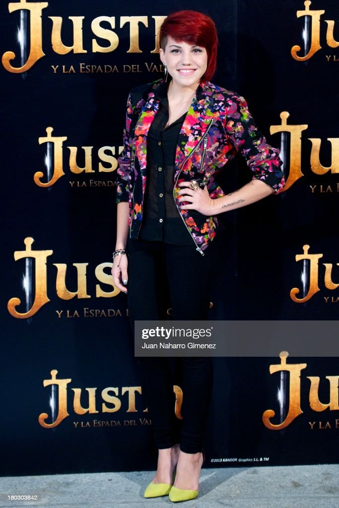 Angy attends 'Justin And The Knights Of Valour' (Justin Y La Espada Del Valor) photocall at Castle of Villaviciosa de Odon on September 11, 2013 in Villaviciosa de Odon, Spain.