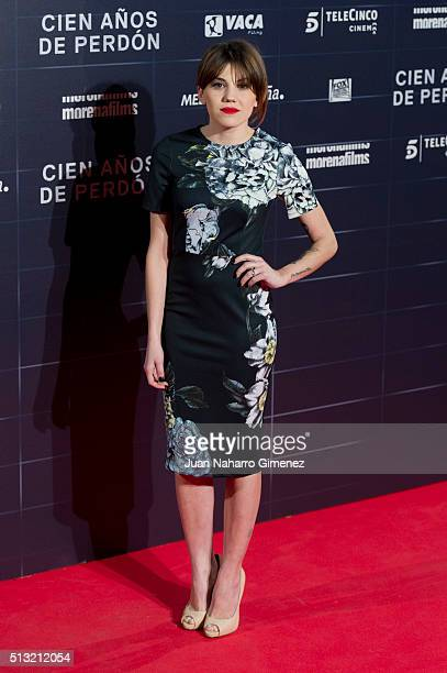 Angy Fernandez attends 'Cien Anos De Perdon' premiere at Capitol Cinema on March 1 2016 in Madrid Spain