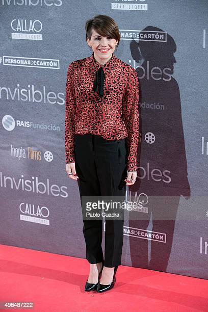 Angy Fernandez attends 'Invisibles' charity premiere at the Callao City Lights Cinema on November 23 2015 in Madrid Spain