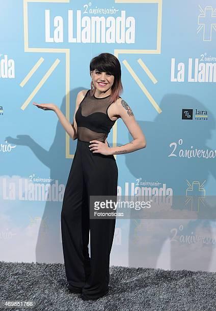 Angy Fernandez attends 'La Llamada' premiere at the Lara Theater on April 15 2015 in Madrid Spain