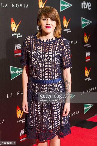 Angy Fernandez attends 'La Novia' Madrid Premiere on December 1 2015 in Madrid Spain