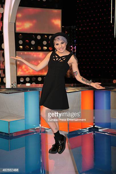 Angy Fernandez attends 'Pequenos Gigantes' Tv programme presentation on July 22 2014 in Madrid Spain