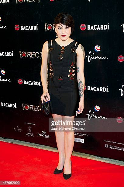 Angy Fernandez attends 'REC 4' premiere at Capitol Cinema on October 27 2014 in Madrid Spain
