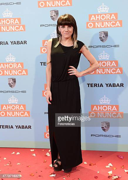 Angy Fernandez attends the 'Ahora o Nunca' premiere at Capitol Cinema on June 16 2015 in Madrid Spain