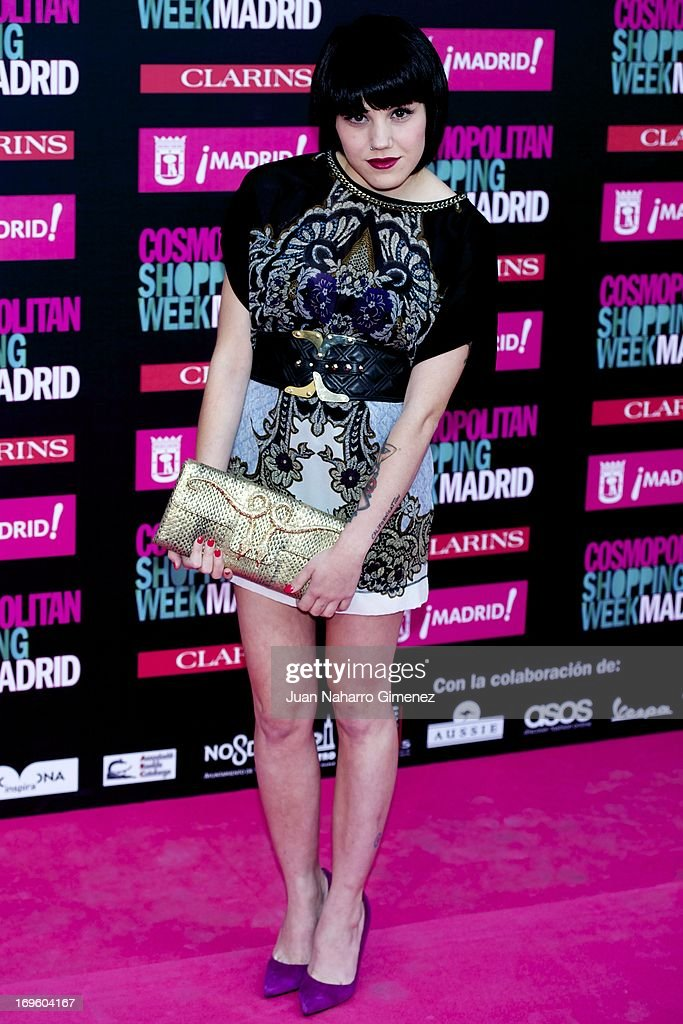 Angy Fernandez attends the 'Cosmopolitan Shopping Week' party at the Plaza de Callao on May 28, 2013 in Madrid, Spain.