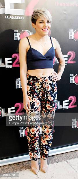 Angy Fernandez attends 'The Hole 2' closing party photocall on May 13 2014 in Madrid Spain