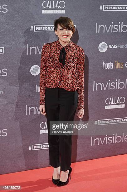 Angy Fernandez attends the 'Invisibles' charity premiere at the Callao cinema on November 23 2015 in Madrid Spain