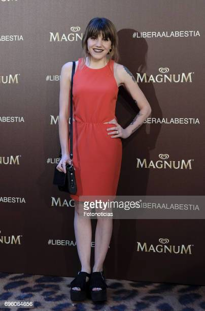 Angy Fernandez attends the Magnum new campaign presentation party at the Palacete de Fortuny on June 14 2017 in Madrid Spain