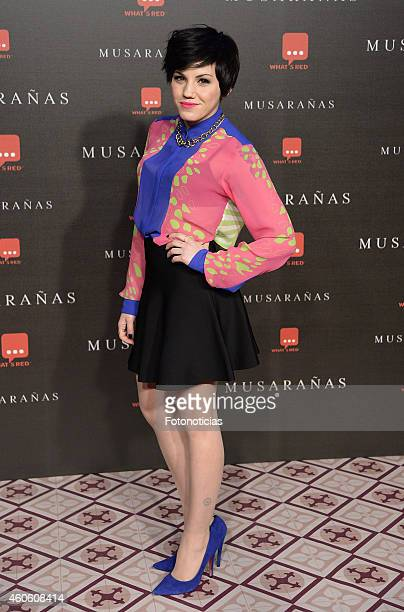 Angy Fernandez attends the 'Musaranas' Premiere at the Capitol Cinema on December 17 2014 in Madrid Spain