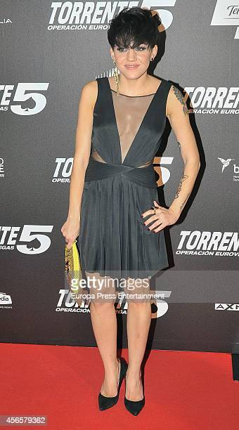 Angy Fernandez attends the 'Torrente 5 Operacion Eurovegas' premier on October 2 2014 in Madrid Spain