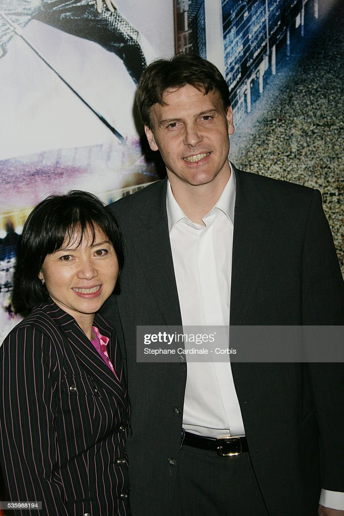 Anh Dao and date attend the premiere of 'Jean-Philippe' in Paris.
