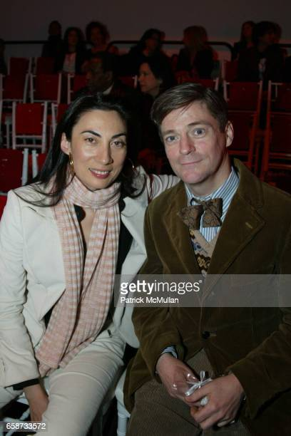 Anh Duong and Peter McGough attend the front row at Diane von Furstenberg Fashion Show at DVF Studios on February 8 2004 in New York City