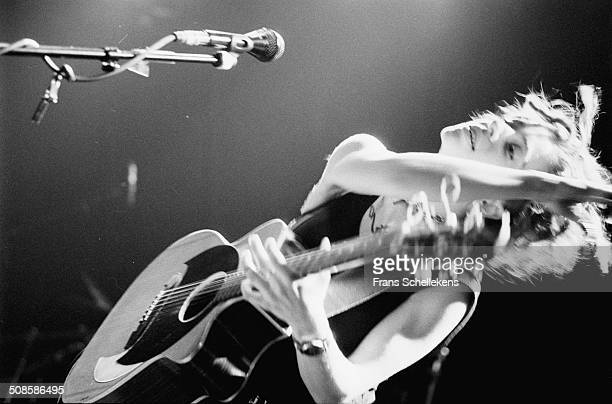 Ani di Franco vocalguitar performs at the Melkweg on 7th December 1996 in Amsterdam Netherlands
