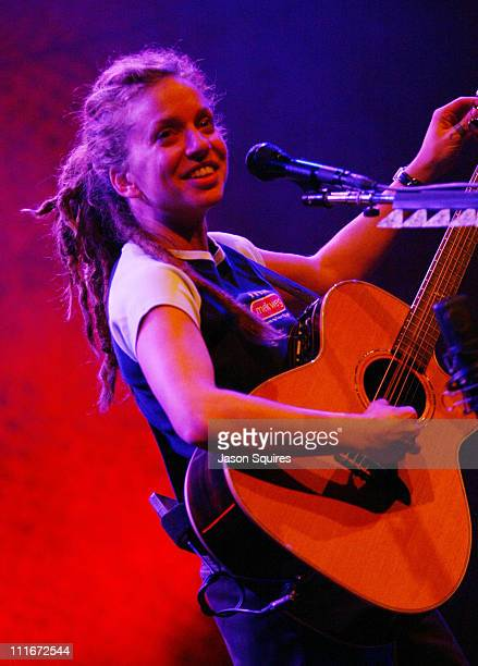 Ani DiFranco during Ani DiFranco performs live in Kansas City on January 21 2004 at Liberty Hall in Lawrence Kansas United States