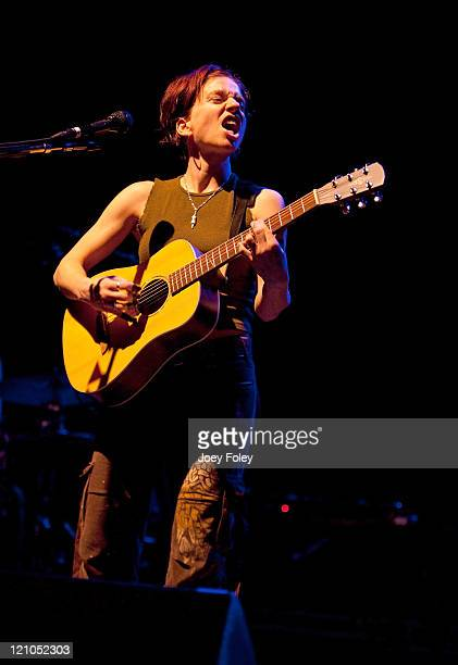 Ani DiFranco performs live in concert at the Lifestyle Communities Pavilion on February 26 2010 in Columbus Ohio