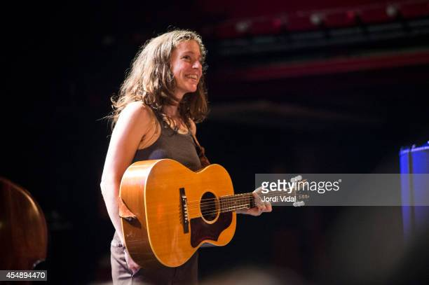 Ani DiFranco performs on stage at Sala Apolo on September 7 2014 in Barcelona Spain