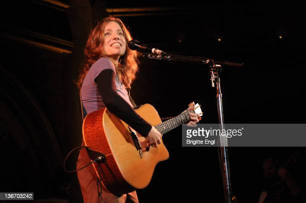 Ani DiFranco performs on stage at the Union Chapel on January 10 2012 in London United Kingdom