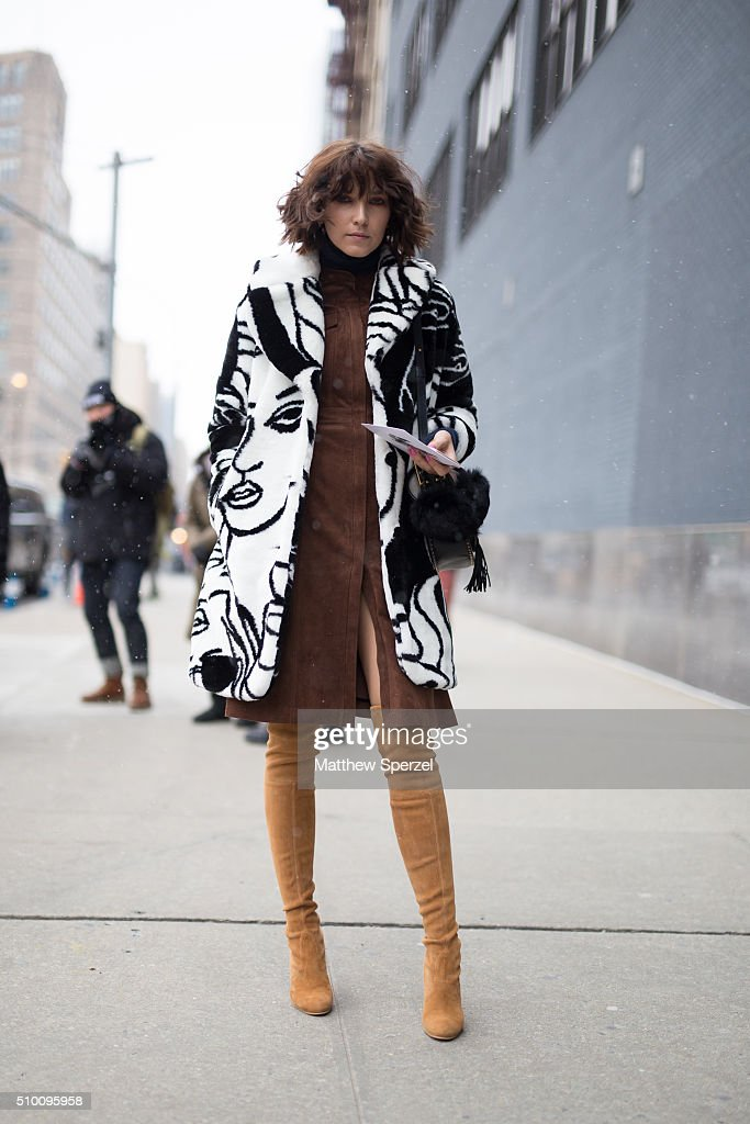 Ania Boniecka is seen at Lacoste during New York Fashion Week: Women's Fall/Winter 2016 on February 13, 2016 in New York City.