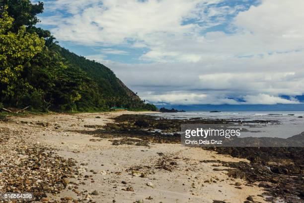Aniao Beach with big rocks on the sand